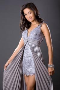 graues Abendkleid